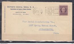 Brief Van Habana Cuba Naar Philadelphia Libero Al Mundo De La Fiebre America - Lettres & Documents