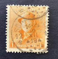 OBP 175 - 1fr Met * SCHAERBEEK 12 * - 1919-1920  Re Con Casco