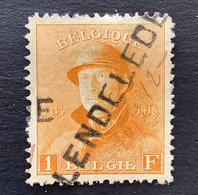 OBP 175 - 1fr Met GRIFFE LENDELEDE - 1919-1920 Behelmter König