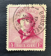 OBP 177 - 5fr Met EC BRUSSEL 1A BRUXELLES - 1919-1920  Re Con Casco