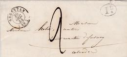 LAC De Argentan (61) Pour St-Martin De Fresnay (St-Pierre-sur-Dives -14) - 19/12/1844 - CAD 13 & 15 - TM 2 + Cachet 1D - 1801-1848: Voorlopers XIX
