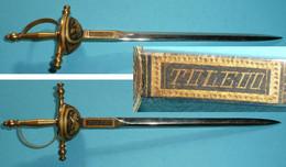 Rare Coupe-papier/Ouvre-lettres En Métal Peint, En Forme D'épée, Souvenir D'Espagne Tolède, Toledo Chimère - Souvenirs