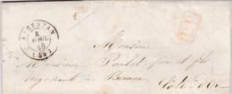 LAC De Argentan (61) Pour Beaune (21) - 3 Avril 1846 - CAD Rond Type 15 + Surcharge - Cachet Port Payé Rouge - Vin - 1801-1848: Voorlopers XIX