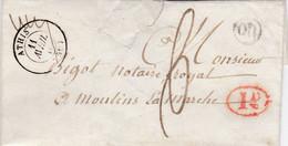 PSC De Athis (de-l'Orne - 61) Pour Moulins-la-Marche (61) - 11 Avril 1840 - CAD 13 & 15 Alençon - TM 6 -  Cachet OR + 1D - 1801-1848: Voorlopers XIX