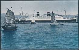 President Coolidge In The Hong Kong Harbour - American President Lines - Piroscafi