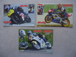3 X Carte Postale Pilotes Belges MOTOS - Motorcycle Sport