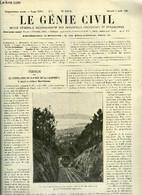 Le Génie Civil Tome XCVII N° 6 - Le Funiculaire Du Plateau De La Californie A Cannes Par A. Lévy-Lambert, La Politique F - Otros