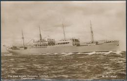 M.S. Alsia / East Asiatic Company - Dated 1934, Real Photo Postcard - Piroscafi