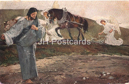 Painting By Rene Kuder - Homo Qui Seminat Bonum - Jesus - French Art - 2289 - Old Postcard - Germany- Used - Pintura & Cuadros