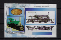 CUBA 2019. HB HISTORIA DEL FERROCARRIL. RAILROAD. MNH. - Unused Stamps