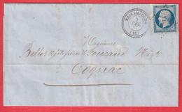 N°14 PC 337 BRISAMBOURG CHARENTE INFERIEURE MARITIME POUR COGNAC - 1849-1876: Klassik