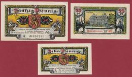 Allemagne 3 Notgeld  Stadt  Altenkirchen  (SERIE COMPLETE  Ref 24/1 Recueil Manfred Mehl)  Dans L 'état   Lot N °8 - Colecciones