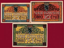 Allemagne 3 Notgeld  Stadt Pössneck (SERIE COMPLETE  Réf-- 1066/2-- Recueil Manfred Mehl) Dans L 'état Lot N° 15 - Colecciones