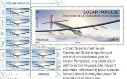 Pré Commande Bloc De 12 Timbres Solar Impulse Pionnier - Nuovi