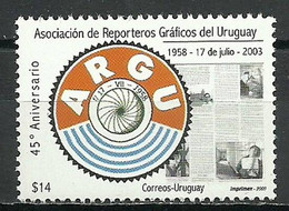 Uruguay 2003 Mi 2760 MNH  (ZS3 URG2760dav56C) - Scrittori