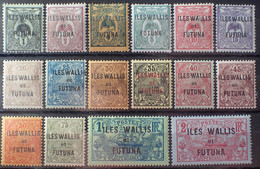 R2452/1683 - 1920 - WALLIS ET FUTUNA - N°1 à 16 NEUFS* - Unused Stamps