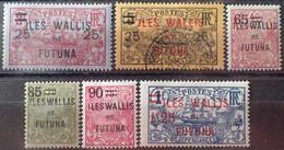 R2452/1688 - 1924/1927 - WALLIS ET FUTUNA - N°30 à 35 NEUFS*(5t)/☉(1t) - Unused Stamps