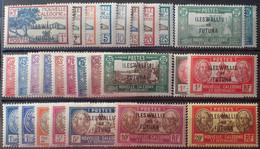 R2452/1691 - 1930/1938 - WALLIS ET FUTUNA - SERIE COMPLETE SAUF N°57-59-591-60A - N°43 à 65 NEUFS* - Unused Stamps