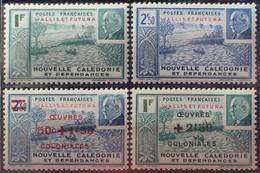 R2452/1694 - 1941/1944 - WALLIS ET FUTUNA - PETAIN - N°91-92-131-132 NEUFS* - Unused Stamps