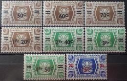 R2452/1696 - 1945 - WALLIS ET FUTUNA - SERIE COMPLETE - N°148 à 155 NEUFS* - Unused Stamps