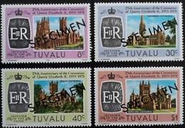 CV:€30.00 TUVALU 1978 Coronation Castles SPECIMEN SET:.4 - Tuvalu