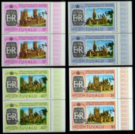 CV:€60.00 TUVALU 1978 Coronation Castles SPECIMEN MARG.PAIRS:.4 - Tuvalu