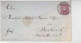 GS-Umschlag Aus GREIFSWALD 11.12.89 Hinten Schöne Gesprägte Adresse - Briefe U. Dokumente