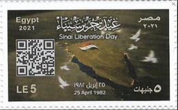 Egypt 2021 MNH, SINAI LIBERATION DAY (Egypte) (Egitto) (Ägypten) (Egipto) (Egypten) Africa - Nuovi