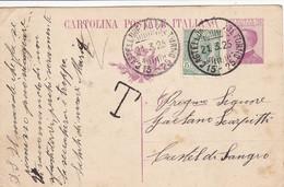 Castellone Al Volturno (Campobasso) Frazionario 15-25 Del 1925 - Marcofilía