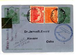 47955 - Entier  Par Avion Pour CUBA - Haiti