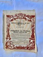 VILLE  De  PARIS  EMPRUNT  MUNICIPAL  De 1892  -------- Obligation  De  400 Frs - Non Classificati