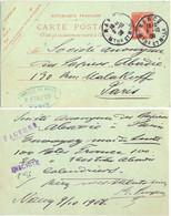 ENTIER CP  10 C. « FABRIQUE DE PIPES R. PURPUR, NANCY »  OMec DAGUIN Du 9-10-08 => S.A. DES PAPIERS ABADIE PARIS - Standard Postcards & Stamped On Demand (before 1995)