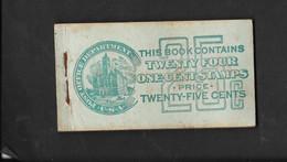 TP DES ETATS UNIS D'AMERIQUE 1C VERT EN CARNET - Unused Stamps