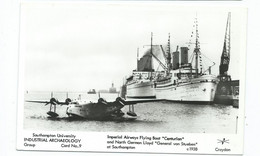 Reproduction  Postcard  Unused Imperial Airways Flying Boats Centurian.  1938 - 1919-1938: Fra Le Due Guerre