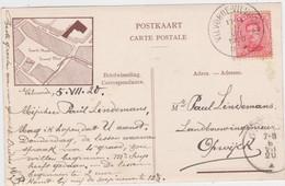Vilvoorde - Nieuwstraat - Gildenhuis (gelopen Kaart Met Bewegwijzering Op De Achterkant) (met Zegel En Afstempeling 1920 - Vilvoorde