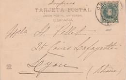 ESPAGNE ROYAUME CARTE POUR LA FRANCE 1902 - Brieven En Documenten