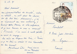 ESPAGNE CARTE DE CORDOBA POUR LA FRANCD 18971 - 1971-80 Cartas