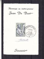 Belgique - Document De 1964 - Oblit Charleroi - Vesalius - Avec Signature De De Bast - Hommage Au Graveur - Cartas