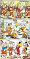 Militaria In Europa Jacovitti Illustratore (number 3 Cards) (vedi Retro) European Military - Humour