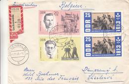 Allemagne - République Démocratique - Lettre Recom De 1963 - Oblit Luckenwalde - Sports - Drapeaux - - Brieven En Documenten