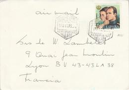 ESPAGNE SEUL SUR LETTRE POUR LA FRANCE 1976 - 1971-80 Cartas