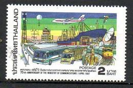 THAÏLANDE. N°1174 Oblitéré De 1987. Avion. - Aerei