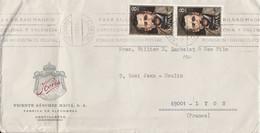 ESPAGNE AFFRANCHISSEMENT COMPOSE SUR LETTRE POUR LA FRANCE 1973 - 1971-80 Cartas