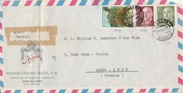 ESPAGNE AFFRANCHISSEMENT COMPOSE SUR LETTRE POUR LA FRANCE 1971 - 1971-80 Cartas