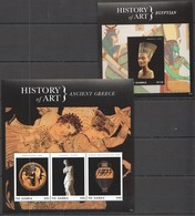 PK452 2013 GAMBIA HISTORY OF ART ANCIENT GREECE EGYPTIAN #6757-9 !!! MICHEL 19 EURO !!! 1KB+1BL MNH - Archéologie