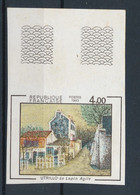 FRANCE - NON DENTELE LE LAPIN AGILE UTRILLO N° 2297a) NEUF** SANS CHARNIERE BORD DE FEUILLE - COTE : 80€ - 1983 - Non Dentellati