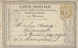 1873- C P Précurseur  Cad ANTONY ( 60 ) Affr. N°55 Oblit. G C 118 - 1849-1876: Periodo Classico