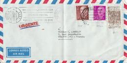 ESPAGNE AFFRANCHISSEMENT COMPOSE SUR LETTRE POUR LA FRANCE 1977 - 1971-80 Cartas