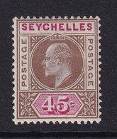 Seychelles: 1903   Edward    SG53    45c      MH - Seychelles (...-1976)