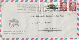 ESPAGNE AFFRANCHISSEMENT COMPOSE SUR LETTRE POUR LA FRANCE 1975 - 1971-80 Cartas